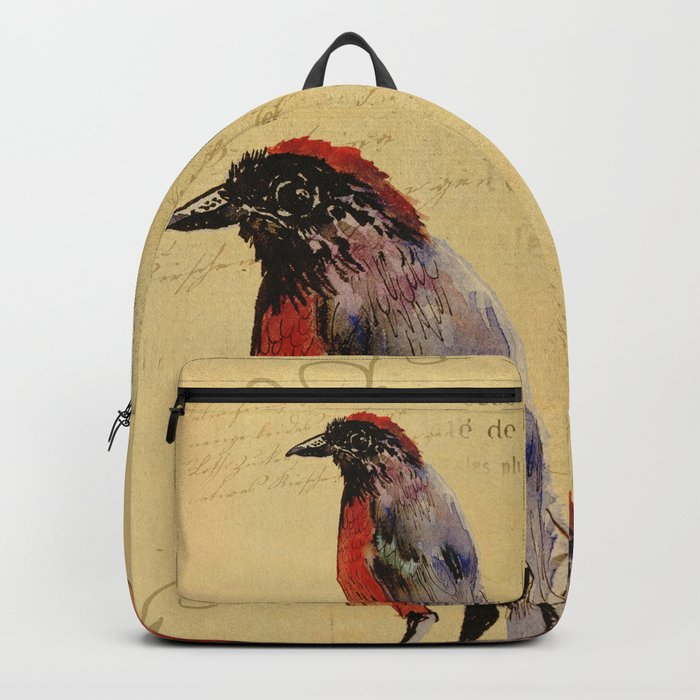 Vintage Bird Backpack