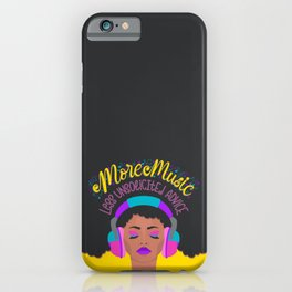 More Music: Woman with Headphones iPhone Case