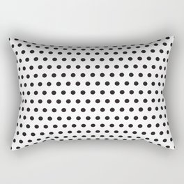 Black white geometrical simple polka dots pattern Rectangular Pillow