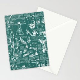 Da Vinci's Anatomy Sketchbook // Genoa Green Stationery Cards