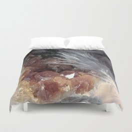 Citrine & Feathers Duvet Cover