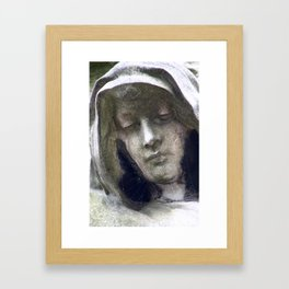 Woman in morning at Montparnasse Framed Art Print