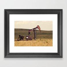 Oil Pump Number 9 Framed Art Print