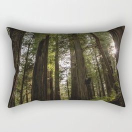 Redwoods Make Me Smile - Nature Photography Rectangular Pillow