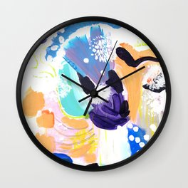 Abstract Happyness Wall Clock