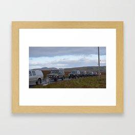 Landrover Convoy Framed Art Print