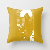 klimt Throw Pillows featuring Gustav Klimt by Ian Cy