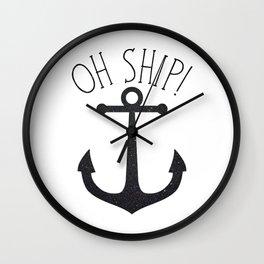 Oh Ship! Wall Clock