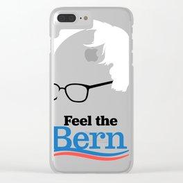 Feel the bern  berni Clear iPhone Case