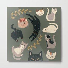 Cats set Metal Print