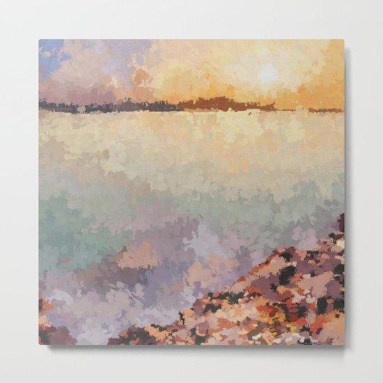SUNSET (oil landscape) Metal Print