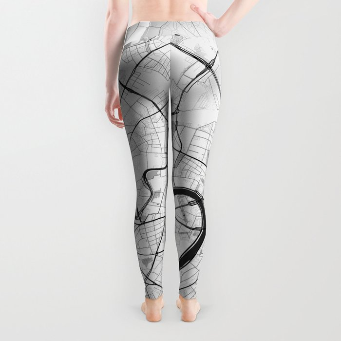 Moscow Map Gray Leggings