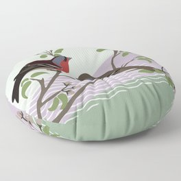 loving chaffinches Floor Pillow