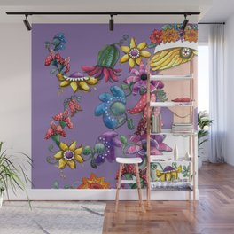 I Love the Flower Girl Lavender Wall Mural