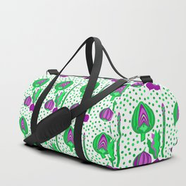 Ultra Violet Vegetables Duffle Bag
