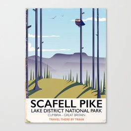 Scafell Pike Lake District National Park Canvas Print