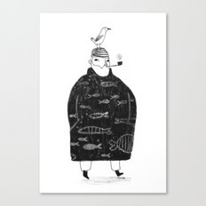 The Sailor and the Seagull Canvas Print