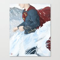 man of steel Canvas Prints featuring Man of Steel by Berkay Daglar