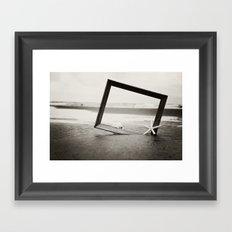 be an explorer Framed Art Print