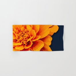 Marry Me Gold and Navy Marigold Hand & Bath Towel