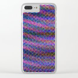 Violet Rays IX Clear iPhone Case