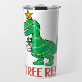 Cute Tree Rex Christmas Tree Dinosaur Holiday T-Shirt Travel Mug
