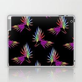 'Hawaiian Heatwave' Tropical Leaves Black Purple Red Yellow Green Blue Laptop & iPad Skin