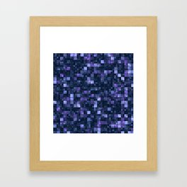 Blue Squares Framed Art Print