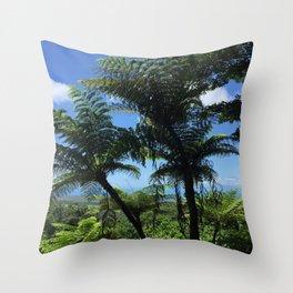 Daintree rainforest fern trees Throw Pillow