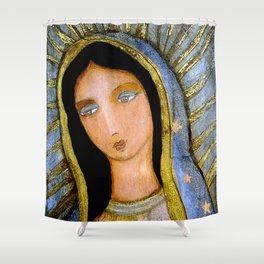 Our Lady of Guadalupe by Flor LArios Shower Curtain