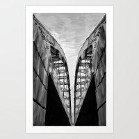 Speer St. Bridge (Denver, Co) Art Print