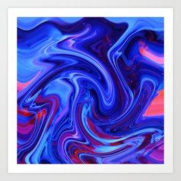 Raging Blue Waters Art Print