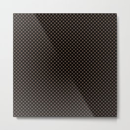 Black and Carafe Polka Dots Metal Print