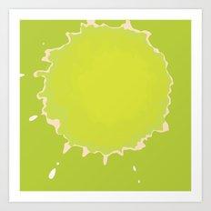 Splat on Green - by Friztin Art Print