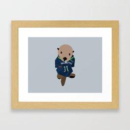 The Littlest Seahawks Fan Framed Art Print