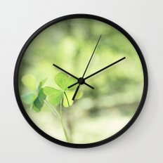 Finding Love in Nature Wall Clock