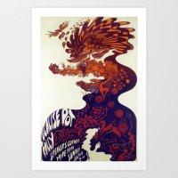 marijuana Art Prints featuring Legalise marijuana by CrazyWorld