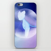 mew iPhone & iPod Skins featuring Shiny Mew by lazylogic