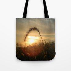 Field Grass Sunrise Tote Bag