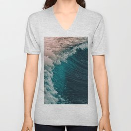The waves Unisex V-Neck