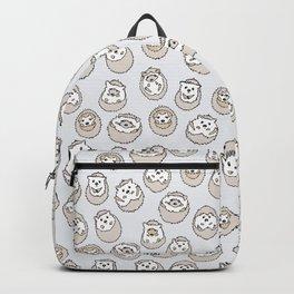 HEDGEHOG PATTERN BEIGE Backpack