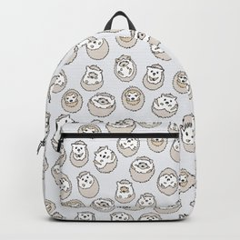 HEDGEHOG PATTERN BEIGE Backpack
