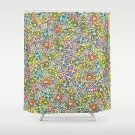 SUPER FLOWER POWER Shower Curtain