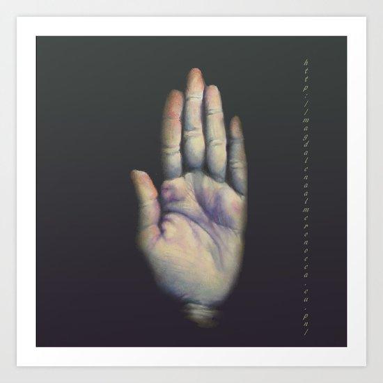 Hand ,mano Art Print