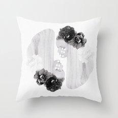 selene and eos (black and white) Throw Pillow