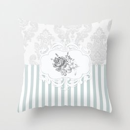 Cristine in Turquoise Throw Pillow