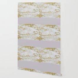 Gold faraldi and smokey lilac marble Wallpaper
