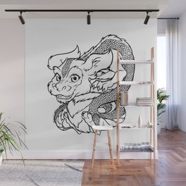Chibi Falkor Neverending Wall Mural