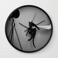 oz Wall Clocks featuring Oz by Emily Mislak