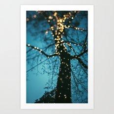 Bokeh tree. Art Print